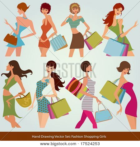 shopping fashion girls