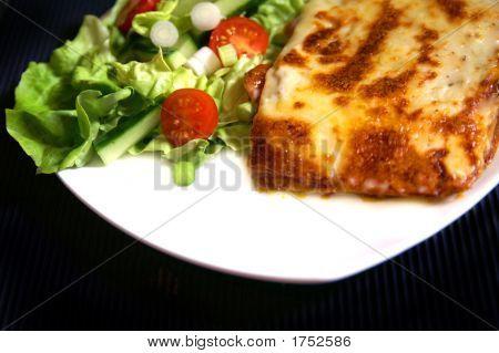 Salad And Lasanga