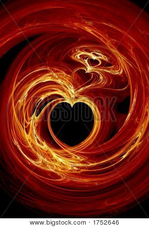 Fractal Fire Hearts