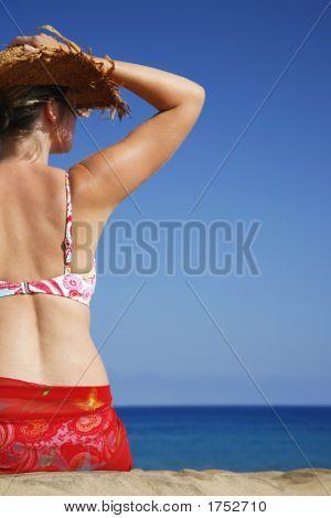 Woman By Beach