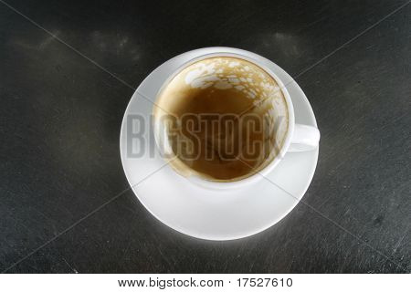 Empty cup of coffee, or cappuccino