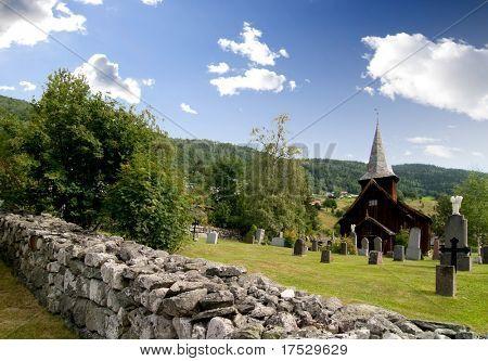 A stavechurch - stavkirke - in Norway.