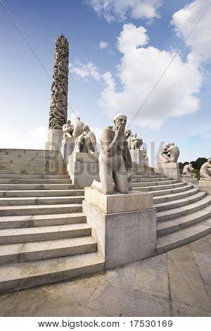 Oslo rock statue park in Norway