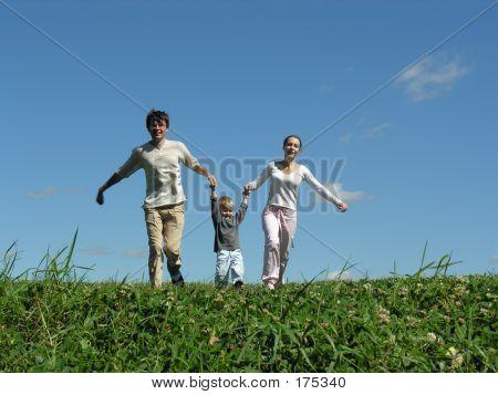 Running Family Sunny Day 2