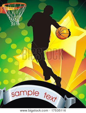 Jogadores de basquete. Série de esportes de ilustração vetorial.