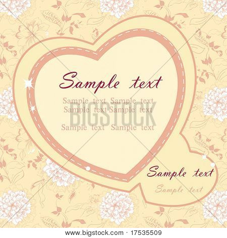 Floral background with place for your text. Abstract summer card. Retro baby arrival with flowers. Elegant wedding card. Floral colorful vector illustration.