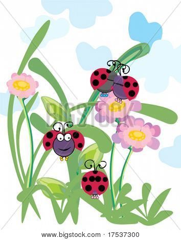 ladybugs having fun