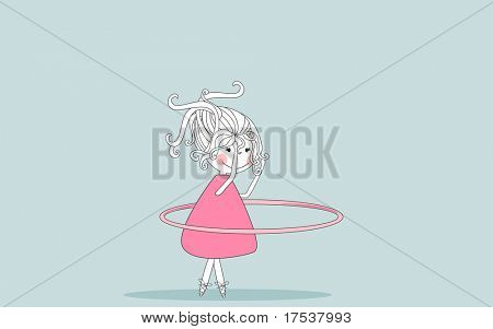girl twirling hula hoop