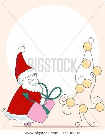 sneaky santa. greeting card