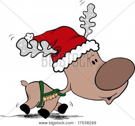 reindeer in hurry