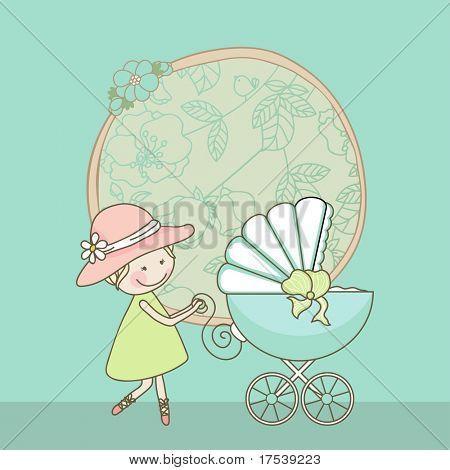 tarjeta de bebé niño anuncio