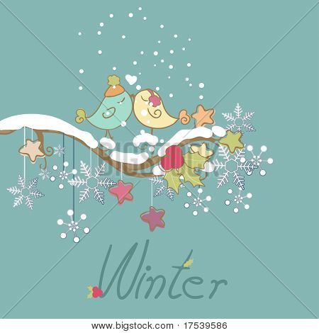 romantic winter card