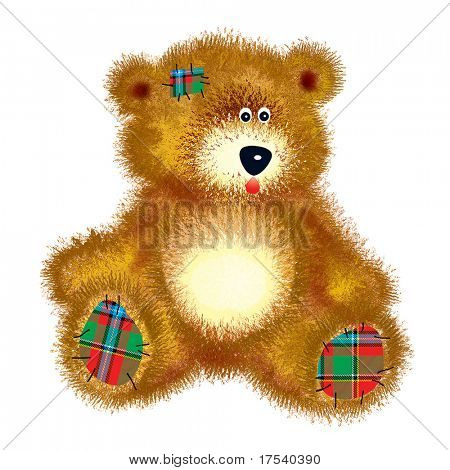 Teddy bear with patch
