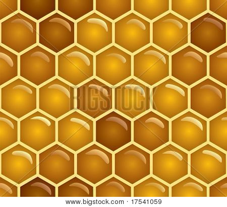 Vector honey background (seamless pattern)