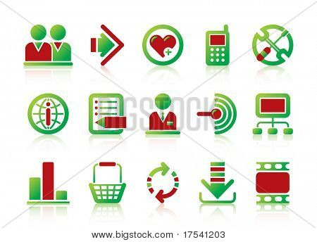 Raster version of vector website and internet icons