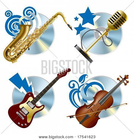 Vector musical icons