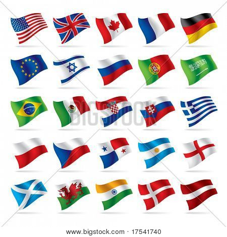 Vector set of world flags 1
