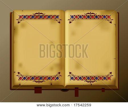 Libro antiguo de Vector