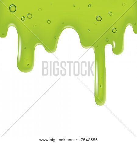 Vector image of a green viscous liquid