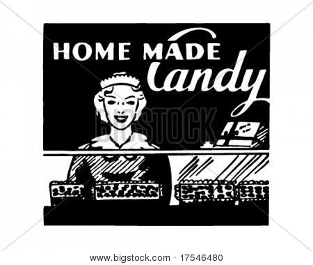 Home Made Candy - Retro Ad Art Banner