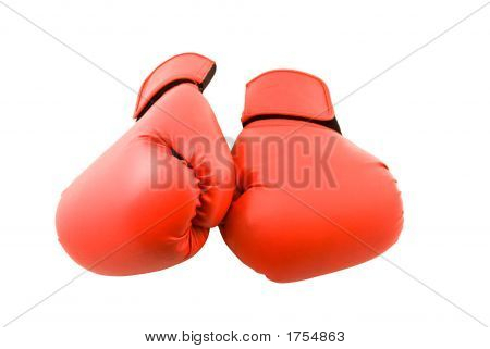 Red Boxing Gloves (Isolated On White)