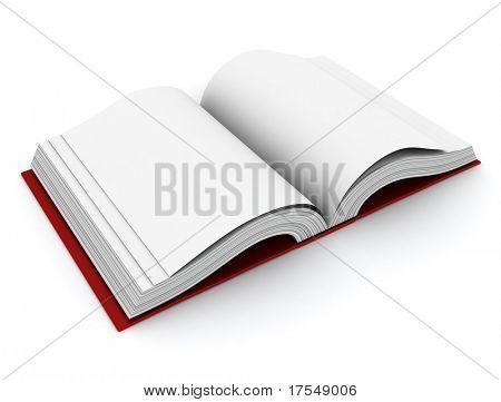 3D Illustration of an Open Book