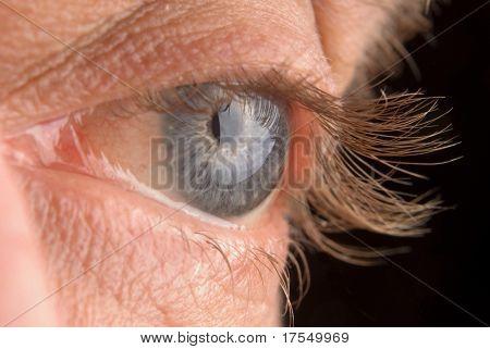 old-man close up with long eyelashes