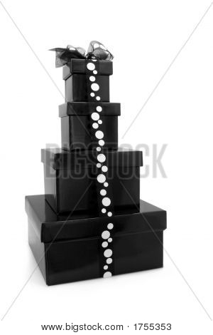 Black And White Gift Boxes