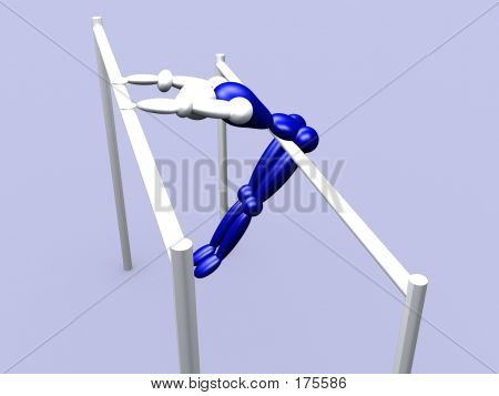 Athlet On Parallel Bars