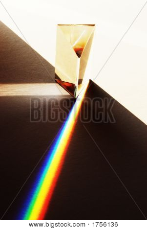 Prism Illustrating Refraction