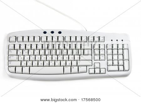 Computer-Tastatur, isolated on white