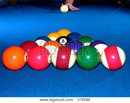 Billiards - Racked Balls, Ready To Break