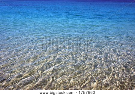 Blue Sea In Beach