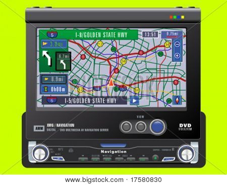 GPS VEHICLE NAVIGATION SYSTEM (vector)