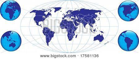 BLUE GLOBE (vector)