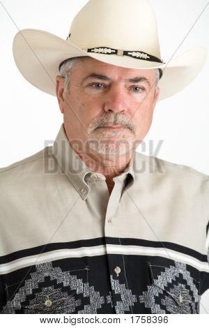 Close-Up Of Cowboy'S Face