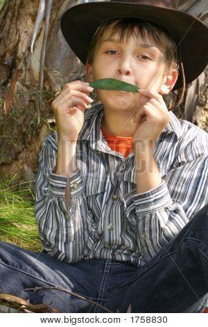 Green Music - A Boy Playing Gumleaf Tune
