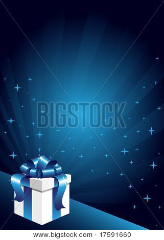 Gift box on the abstract background
