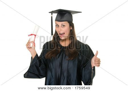 junge Frau Graduate erhält Diploma 9