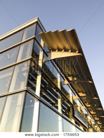 High-Tech Building, Glass And Steel