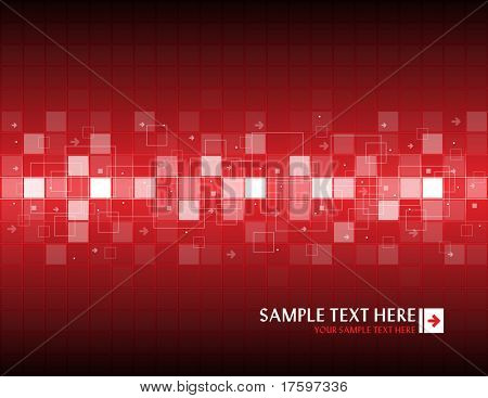 Red abstract background with place for your text