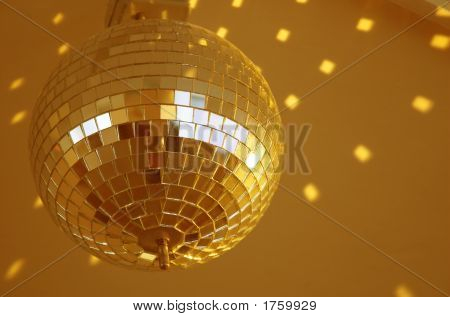 Shiny Golden Mirror Ball
