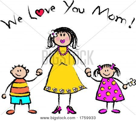 We Love You Mom Light - Vector / Pls Check My Portfolio For Jpeg Format