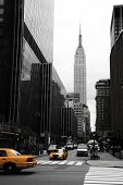stock photo of empire state building  - Emipre State Building and yellow Manhattan New York - JPG