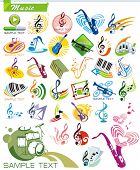 picture of musical instruments  - COLLECTION_9 Exclusive Series of Musical instruments vector Icons and music symbols with modern ideas - JPG
