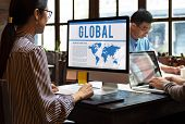 Global Business International Networking Worldwide poster