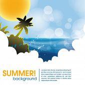 Постер, плакат: летний праздник web и печати шаблонов тропический остров