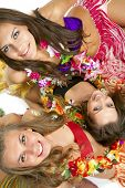 image of hula dancer  - Beautiful hawaiian Hula Dancer Girls - JPG