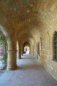 stock photo of filerimos  - Architecture of Filerimos monastery Rhodes Island Greece - JPG