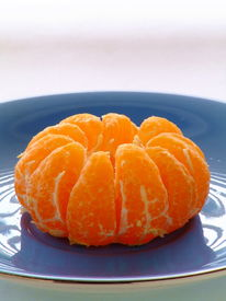 picture of mandarin orange  - Close - JPG